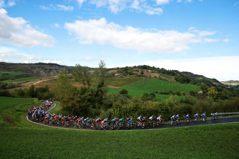 The pack rides during the 12th stage of the Giro d'Italia at Cesenatico in Emilia-Romagna