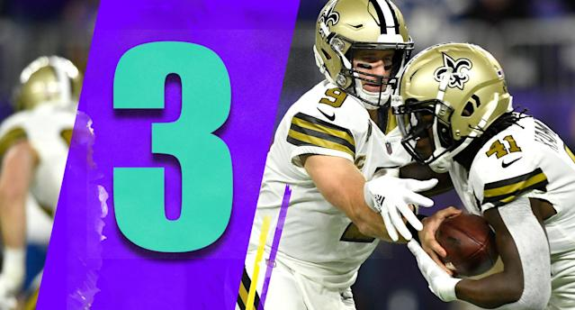 <p>Nobody wants to play the Saints right now, and Sunday's game against the Rams in perhaps the best matchup of the NFL regular season. (Drew Brees, Alvin Kamara) </p>