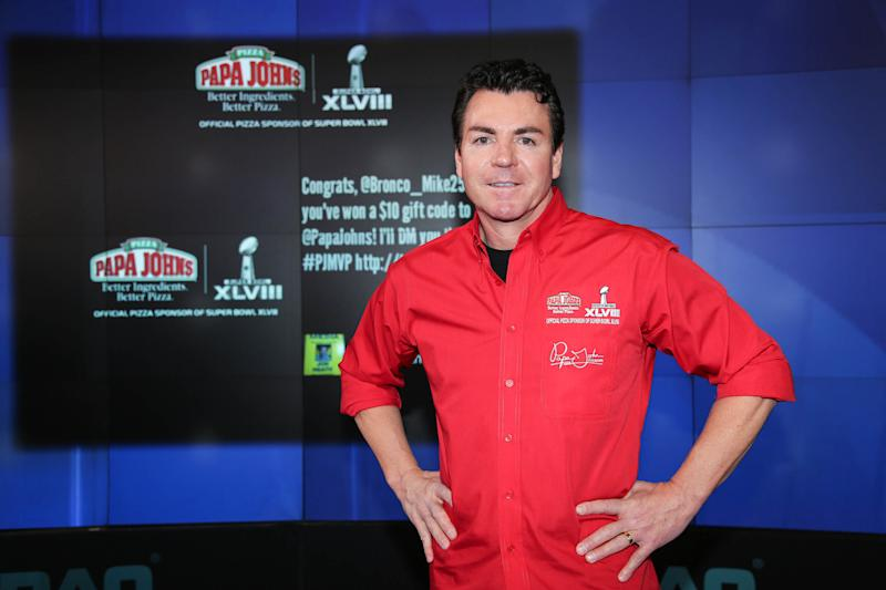 Schnatter, who founded Papa John's in 1984, resigned as CEO of his company in January following backlash over his response to the NFL national anthem protests. (Rob Kim via Getty Images)