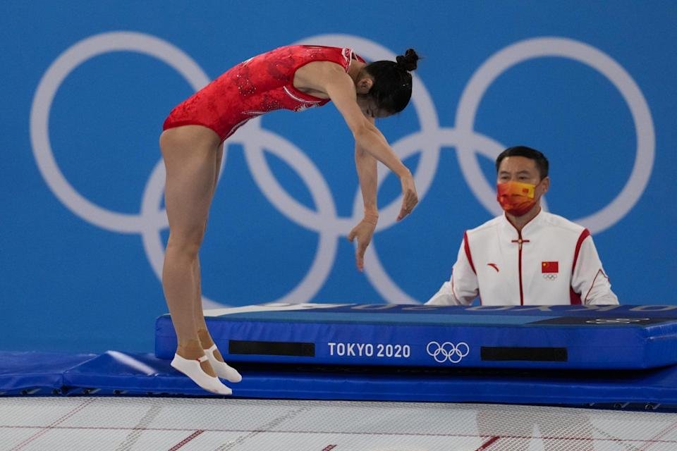 <p>Liu took the silver medal, coming in second to her teammate Zhou Xueying.</p>