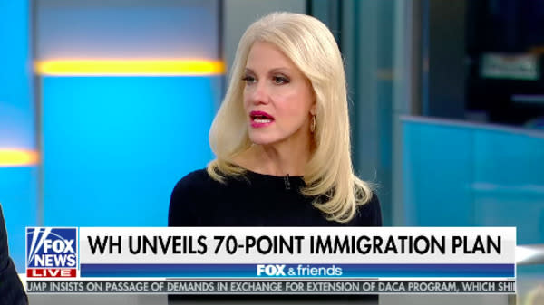 """Kellyanne Conway is pushing back against claims that Vice President Mike Pence's early exit from an NFL game Sunday was a """"political stunt."""""""