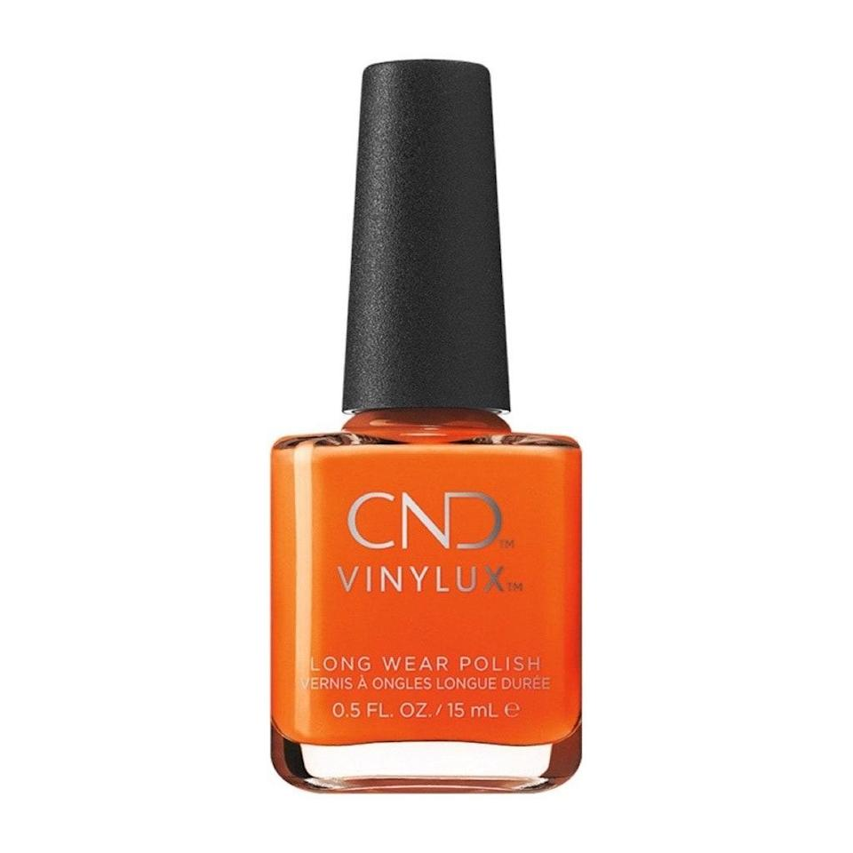 Perhaps the best thing about CND's Vinylux Long Wear Polish in Popsicle Picnic is that it lasts way, way longer than any real-life popsicle picnic ever could. (Also, um, can we get an invite to one of these so-called popsicle picnics?) While your frozen treat melts in your hand, your fingertips will stay chiplessly vibrant — the truest bright orange — thanks to a formula that rivals gel manicures.