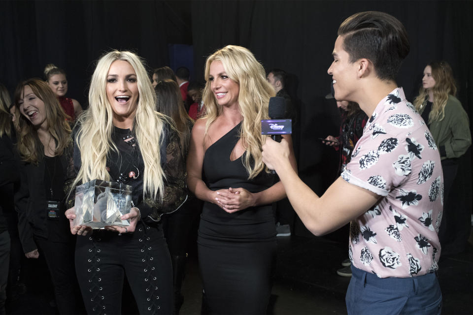 Jamie Lynn Spears looks up to older sister Britney and how she's handled fame. (Image Group LA/Disney Channel via Getty Images)