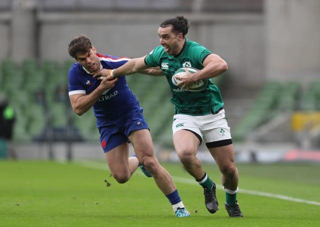 New Zealand-born wing James Lowe, right, has been dropped by Ireland for the first time since qualifying under residency rules last year