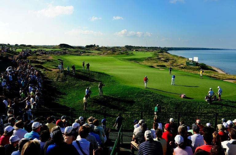 Europe and the United States will battle for the Ryder Cup on the shores of Lake Michigan at Whistling Straits next week (AFP/STUART FRANKLIN)
