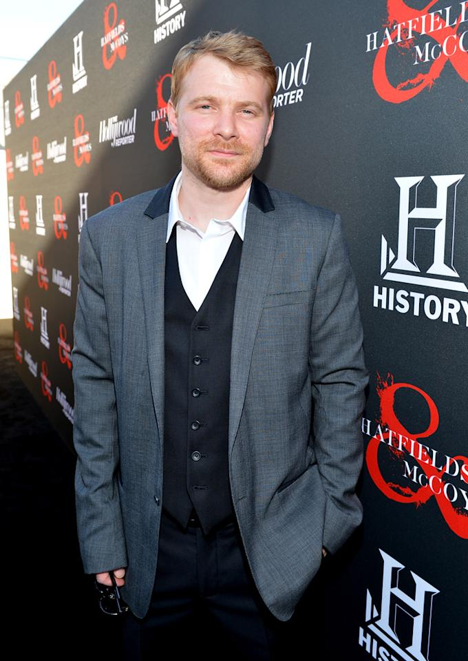 """Christopher Hatherall attends a special screening of """"Hatfields & McCoys"""" hosted by The History Channel at Milk Studios on May 21, 2012 in Hollywood, California."""