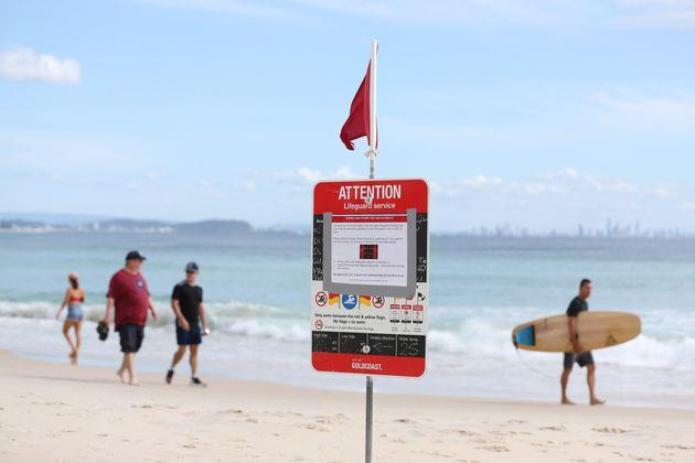 A number of major Gold Coast beaches were closed from midnight on Tuesday over COVID-19 concerns.