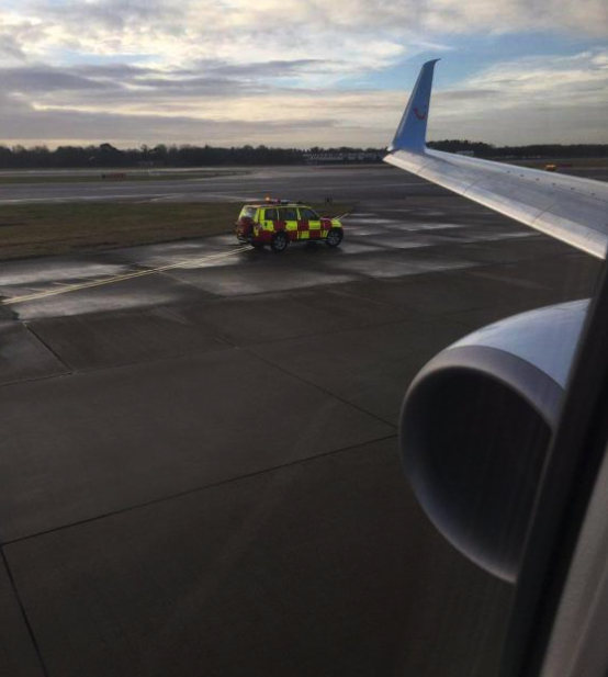Eric shared the snap of the emergency landing (Picture: Twitter)