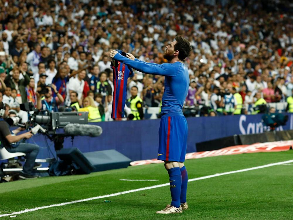 Messi scored a dramatic last-minute winner to sink Real (Getty)