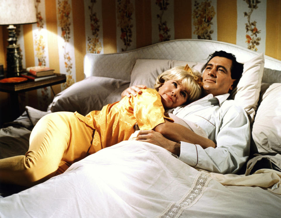 Regular co-stars Doris Day and Rock Hudson in the 1964 film 'Send Me No Flowers' (Photo: Everett Collection)