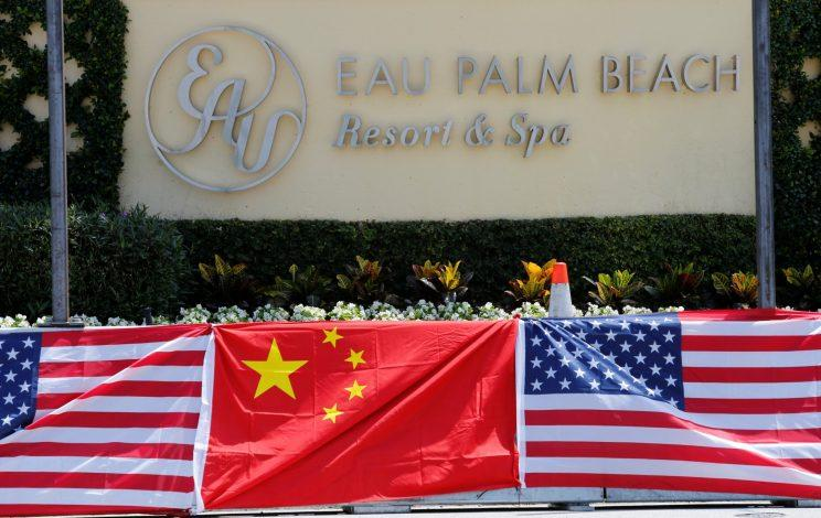 A sign for the Eau Palm Beach Resort and Spa where President of China Xi Jinping will stay is shown in Manalapan, Fla