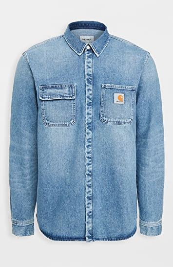 """<p><strong>Carhartt WIP</strong></p><p>eastdane.com</p><p><strong>$168.00</strong></p><p><a href=""""https://go.skimresources.com?id=74968X1525079&xs=1&url=https%3A%2F%2Fwww.eastdane.com%2Fsalinac-shirt-jac-carhartt-wip%2Fvp%2Fv%3D1%2F1512456330.htm%3FfolderID%3D19184%26colorId%3D1A569%26breadcrumb%3DWhat%2527s%2520New"""" rel=""""nofollow noopener"""" target=""""_blank"""" data-ylk=""""slk:Shop Now"""" class=""""link rapid-noclick-resp"""">Shop Now</a></p><p>Spills and stains are almost inevitable, so new dads in particular benefit from having reliable layers on hand. He'll love Carhartt's denim shacket for its practical nature and sturdy design.</p>"""