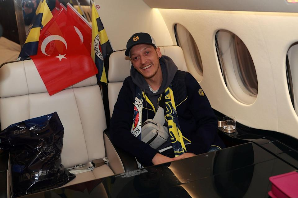 Ozil flew to Istanbul late on Monday night.via REUTERS
