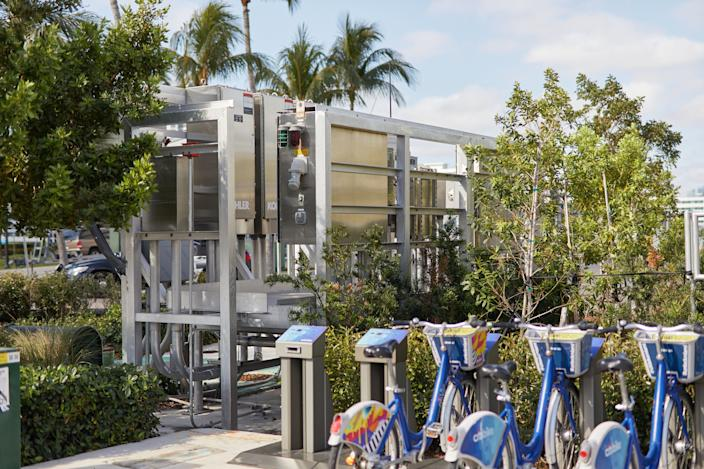 A new pumping station in Miami Beach. (Photo: Mary Beth Koeth for Yahoo News)