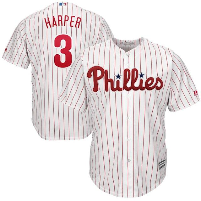 Harper Phillies Cool Base Player Jersey