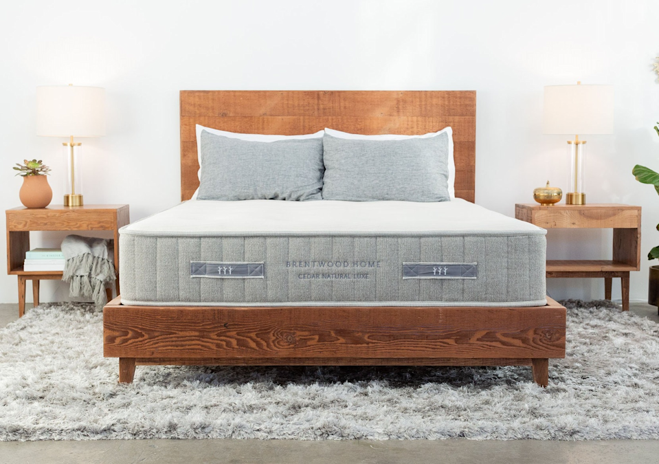 """<h3>Brentwood Home</h3><br><strong>Sale:</strong> $200 off Cedar & Crystal Cove mattresses, $300 off <a href=""""https://www.brentwoodhome.com/products/oceano-mattress"""" rel=""""nofollow noopener"""" target=""""_blank"""" data-ylk=""""slk:Oceano mattresses"""" class=""""link rapid-noclick-resp"""">Oceano mattresses</a>, and 10% of <a href=""""https://www.brentwoodhome.com/products/cypress-memory-foam-mattress"""" rel=""""nofollow noopener"""" target=""""_blank"""" data-ylk=""""slk:Cypress mattresses"""" class=""""link rapid-noclick-resp"""">Cypress mattresses</a><br><strong>Dates:</strong> Now - July 5<br><strong>Promo Code: </strong>LABORDAY, SLEEPIN, CYPRESS10<br><br><em>Shop </em><strong><em><a href=""""https://www.brentwoodhome.com/"""" rel=""""nofollow noopener"""" target=""""_blank"""" data-ylk=""""slk:Brentwood Home"""" class=""""link rapid-noclick-resp"""">Brentwood Home</a></em></strong><br><br><strong>Brentwood Home</strong> Cedar Natural Luxe Mattress, $, available at <a href=""""https://go.skimresources.com/?id=30283X879131&url=https%3A%2F%2Fwww.brentwoodhome.com%2Fproducts%2Fcedar-natural-luxe-mattress"""" rel=""""nofollow noopener"""" target=""""_blank"""" data-ylk=""""slk:Brentwood Home"""" class=""""link rapid-noclick-resp"""">Brentwood Home</a>"""