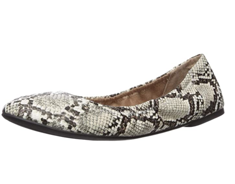 Amazon Essentials Women's Ballet Flat in Faux Snake (Photo via Amazon)