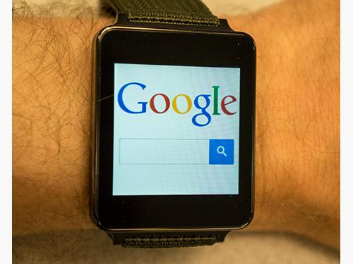 Google on an Android watch