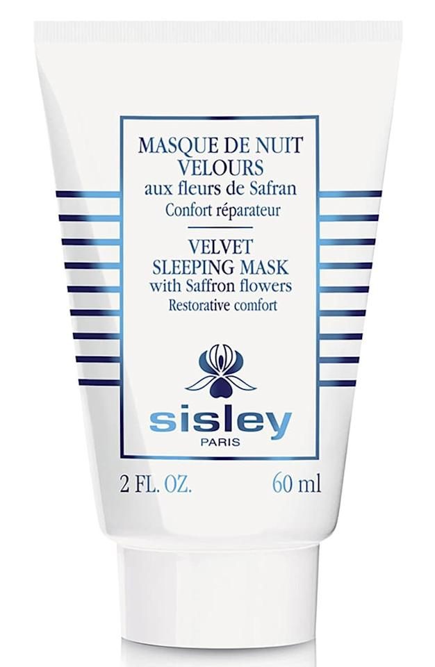"""<p>The <a href=""""https://www.popsugar.com/buy/Sisley-Paris-Velvet-Sleeping-Mask-478195?p_name=Sisley%20Paris%20Velvet%20Sleeping%20Mask&retailer=shop.nordstrom.com&pid=478195&price=140&evar1=bella%3Aus&evar9=46483445&list1=beauty%20products%2Cface%20mask%2Cskin%20care&prop13=mobile&pdata=1"""" rel=""""nofollow"""" data-shoppable-link=""""1"""" target=""""_blank"""" class=""""ga-track"""" data-ga-category=""""Related"""" data-ga-label=""""https://shop.nordstrom.com/s/sisley-paris-velvet-sleeping-mask/5367002?country=US&amp;currency=USD&amp;mrkgcl=760&amp;mrkgadid=3313919067&amp;utm_content=33067514109&amp;utm_term=pla-451464121152&amp;utm_channel=shopping_ret_p&amp;sp_source=google&amp;sp_campaign=662927185&amp;rkg_id=0&amp;adpos=1o8&amp;creative=145518893476&amp;device=c&amp;matchtype=&amp;network=g&amp;gclid=EAIaIQobChMI_7eL8L_24wIVA5yzCh0nIQTrEAQYCCABEgLciPD_BwE"""" data-ga-action=""""In-Line Links"""">Sisley Paris Velvet Sleeping Mask</a> ($140) contains soothing and hydrating ingredients like honey and saffron flower to calm down skin irritation.</p>"""