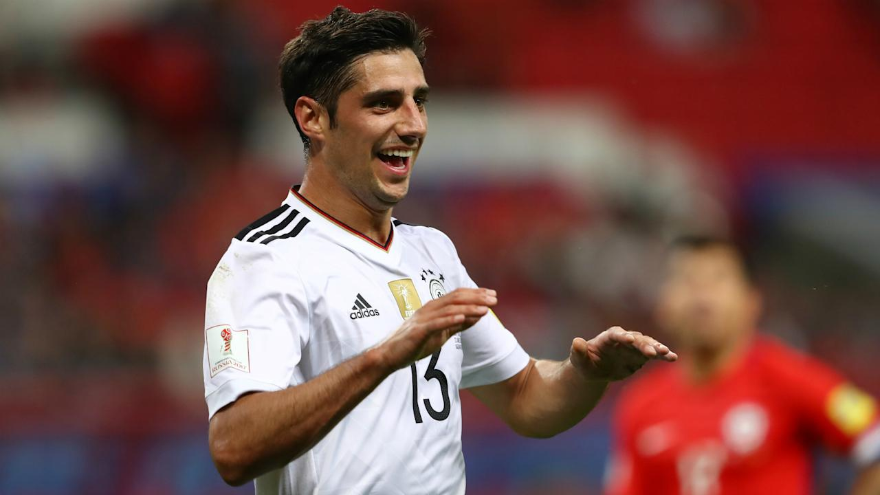 The striker was singled out for praise by the Germany boss following Thursday's 1-1 draw with Chile