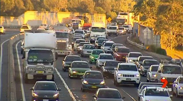 Car registration will be free for Sydney motorists who spends more than $25 a week on tolls, the NSW premier says. Picture: 7 News