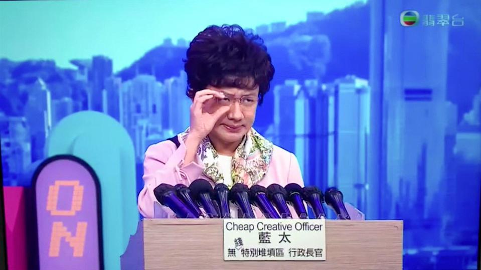 Wong Cho-lam playing Carrie Lam in the comedy show. Photo: YouTube