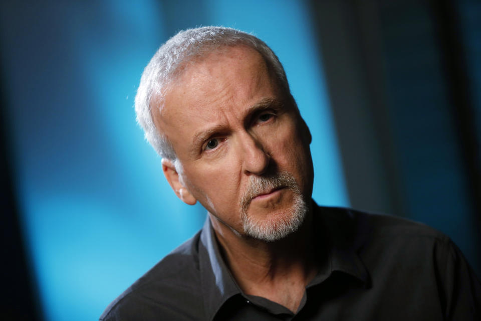"""Director James Cameron is interviewed in Manhattan Beach, California April 8, 2014. Cameron, best known as director of blockbuster films """"Titanic"""" and """"Avatar"""", has appealed to well-known Hollywood actors to act as correspondents for new Showtime documentary """"Years of Living Dangerously"""", which chronicles the human impact on the global climate and the consequences for humans of climate change. Picture taken April 8, 2014. To match story TELEVISION-CLIMATECHANGE/      REUTERS/Lucy Nicholson (UNITED STATES - Tags: ENTERTAINMENT ENVIRONMENT PROFILE HEADSHOT)"""