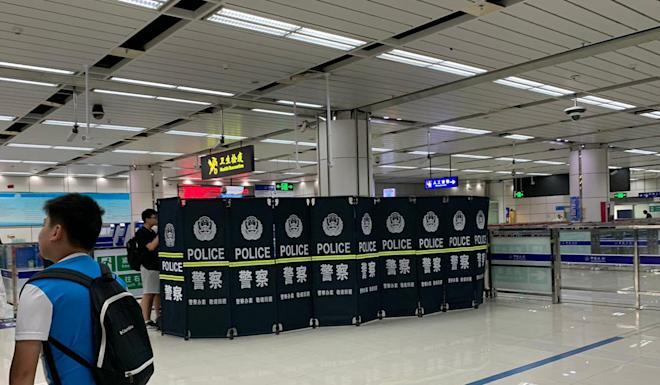 One traveller said their belongings and contents of their phone were searched inside an inspection booth in Shenzhen Bay. Photo: Handout