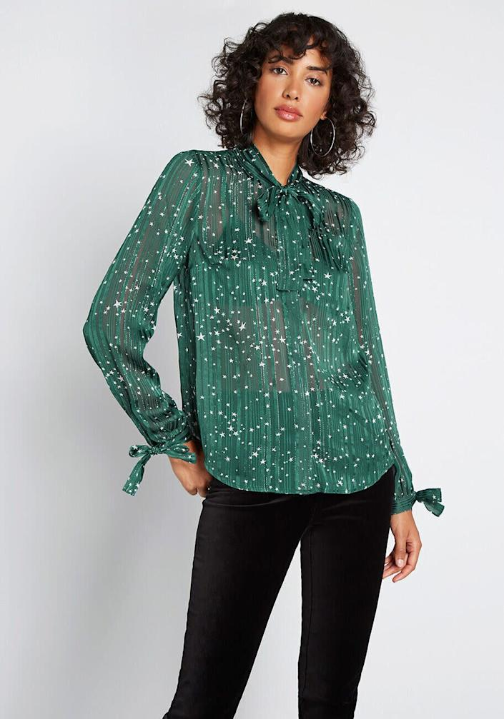 """This top comes in sizes XXS to 4X. <a href=""""https://fave.co/38gXMnO"""" rel=""""nofollow noopener"""" target=""""_blank"""" data-ylk=""""slk:Find it at ModCloth for $55"""" class=""""link rapid-noclick-resp"""">Find it at ModCloth for $55</a>."""