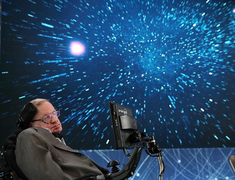 Hawking defied predictions he would only live for a few years after developing a form of motor neurone disease in his early 20s (AFP Photo/Jemal Countess)