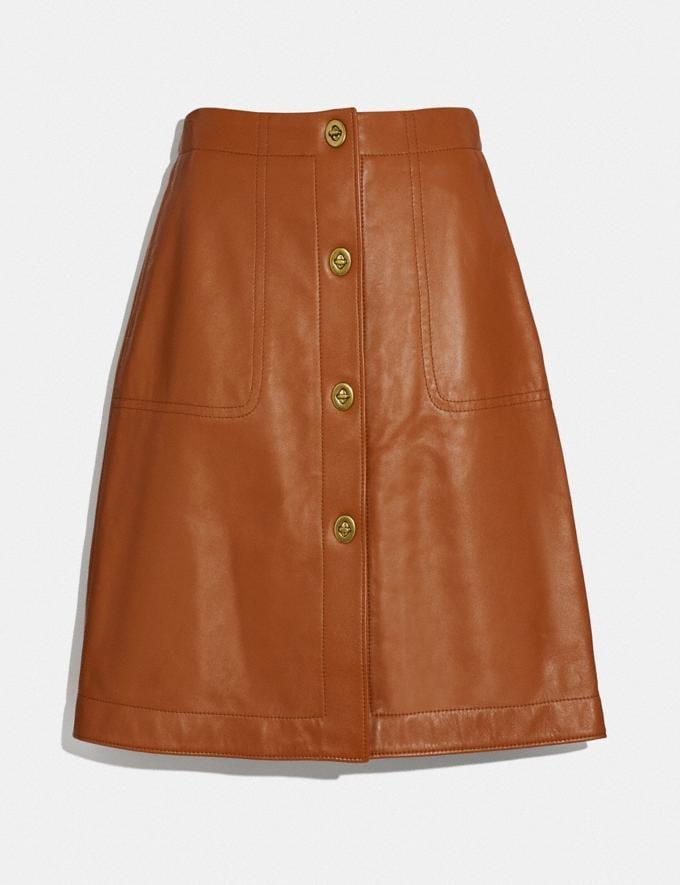 <p>Get date night ready with these structured <span>Leather Skirt </span> ($357).</p>