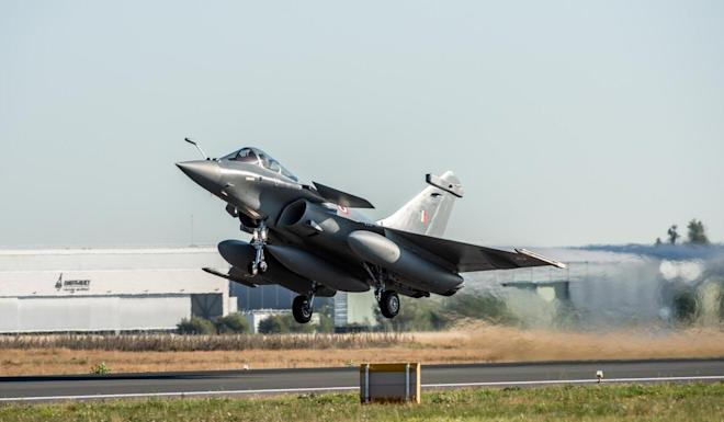 The Indian Air Force ordered 36 Rafale fighter jets in a US$9.4 billion deal signed with France in 2016. Photo: AFP/Dassault Aviation/V. Almansa