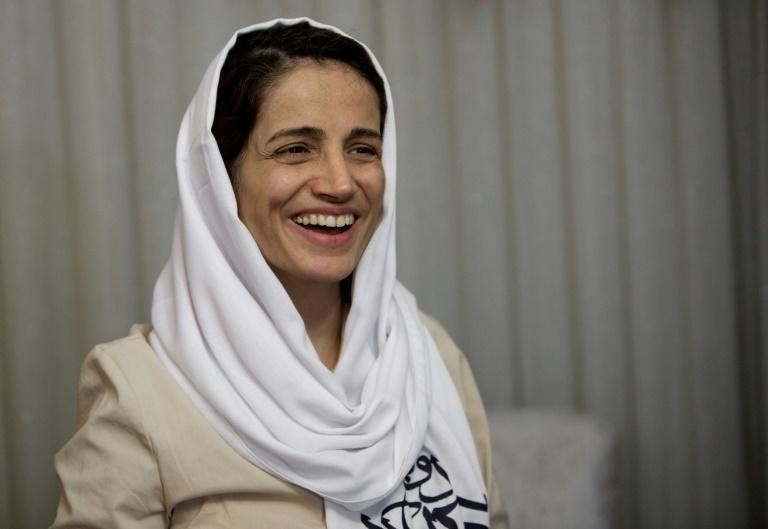 Iranian human rights lawyer Nasrin Sotoudeh (pictured 2013) was jailed in 2018 after defending a woman arrested for protesting against the requirement for Iranian women to wear the hijab