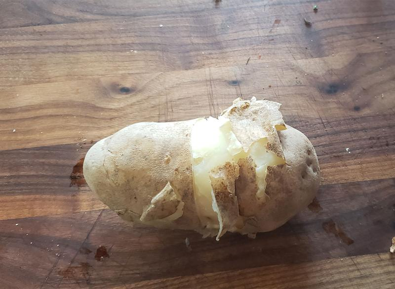 peeled potato hack