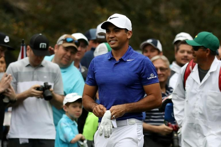 World number three Jason Day played nine holes at Augusta National on April 3, 2017, his fourth consecutive day on the fabled course, before it was closed in the early afternoon when the area fell under a tornado warning