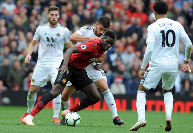 "Paul Pogba and <a class=""link rapid-noclick-resp"" href=""/soccer/teams/manchester-united/"" data-ylk=""slk:Manchester United"">Manchester United</a> might have a tough go against Wolves. (Associated Press)"