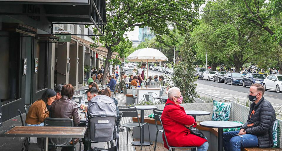 Melburnians have enjoyed their first weekend of greater social freedom. Source: Getty