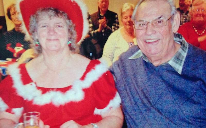 Stuart Bowdler, 74, was killed in a suspected road rage incident, he is pictured with his wife Margaret, 61 - Caters News Agency