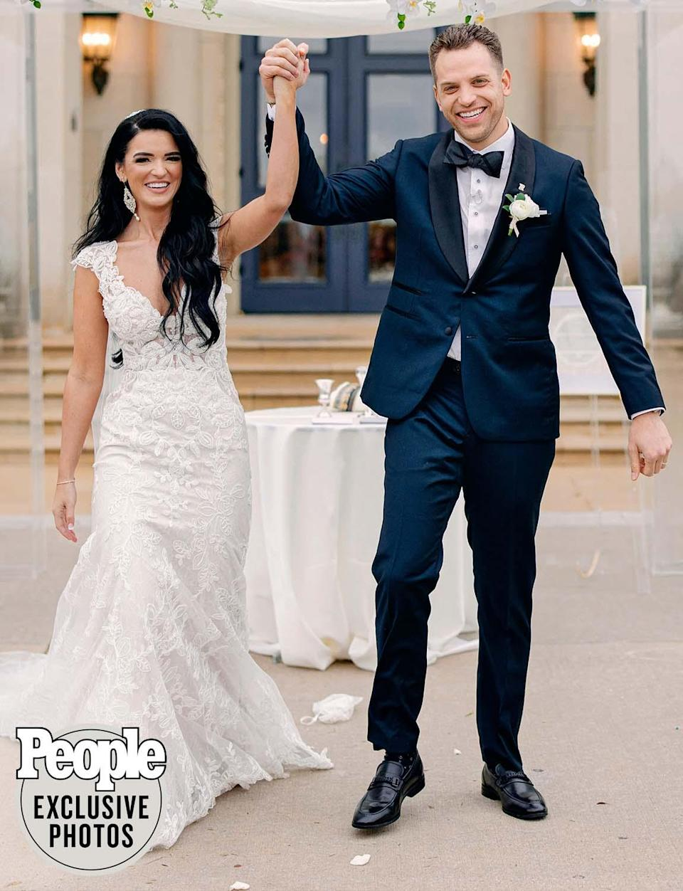 "<p>The couple will honeymoon in Hawaii and after that? Bachelor babies may be on the way.</p> <p>""I want three kids, but Raven might be tapped out at two,"" Gottschalk says with a laugh. Adds Gates: ""I'm just so happy to marry someone I love so much. I prayed for this day. And God willing, we will have a honeymoon baby!""</p>"