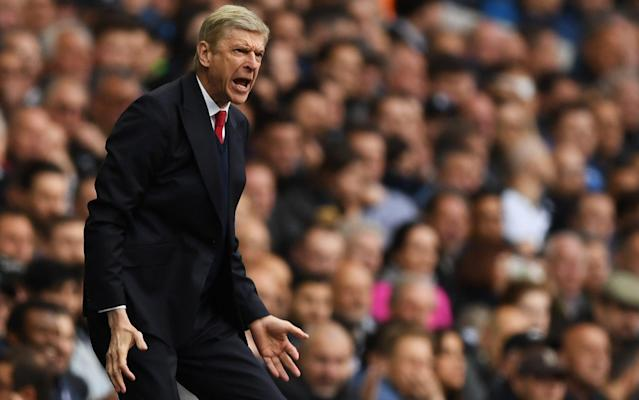 <span>Arsene Wenger looks exasperated on the sidelines at White Hart Lane</span> <span>Credit: Getty Images </span>