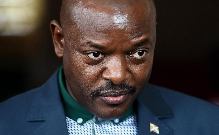 Foremer Hutu rebel leader Pierre Nkurunziza was reelected as Burundi's president in July following months of bloodshed (AFP Photo/Carl de Souza)