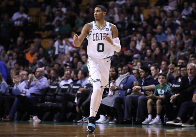 Celtics rookie Jayson Tatum's development could be a major factor for Boston this season. (AP)