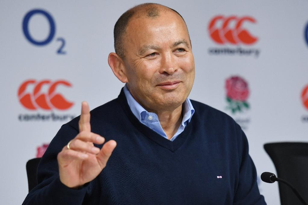 England's Australian head coach Eddie Jones addresses members of the media during a press conference at Twickenham stadium in south west London on March 20, 2017.A 13-9 defeat by Ireland on March 18, 2017 cost the champions England a Six Nations clean sweep. (AFP Photo/BEN STANSALL)