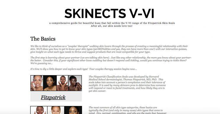 Skinects, skin care