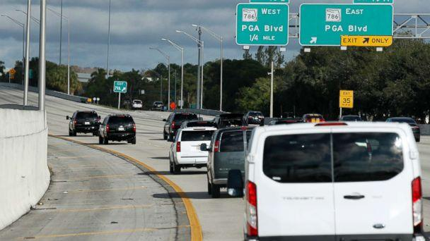 PHOTO: The motorcade for President Donald Trump is seen, Friday, Nov. 24, 2017, in Palm Beach Gardens, Fla. Trump is en route to his Trump National Golf Club, in Jupiter, Fla. (AP Photo/Alex Brandon)