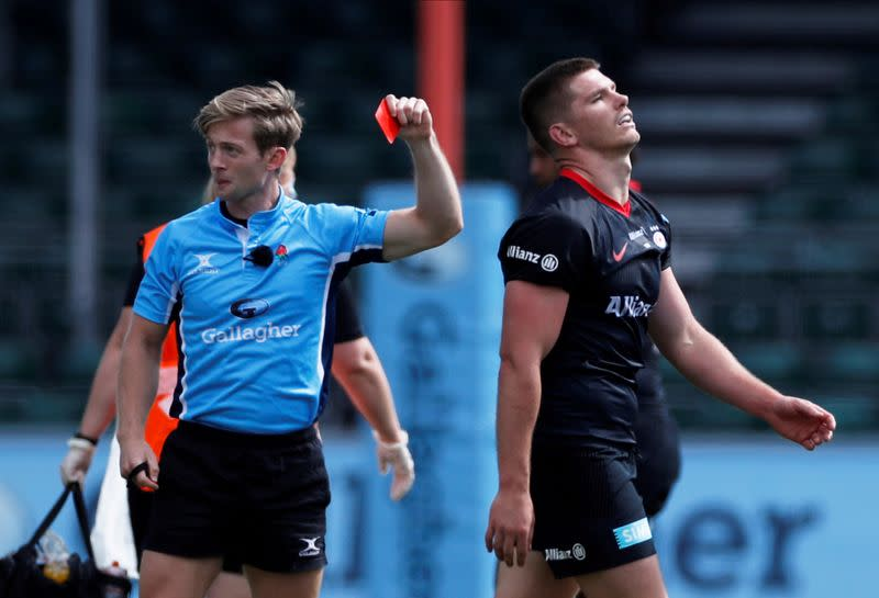 Owen Farrell gets five-game ban after high tackle red card