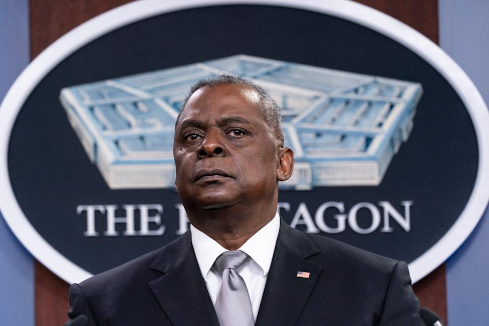 """Secretary of Defense Lloyd Austin says the U.S. """"commitment to Israel is enduring and ironclad."""""""