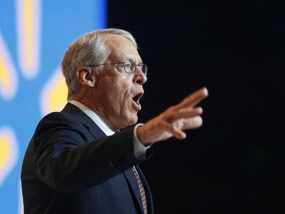 """<p>No. 16: Rob Walton<br /> Net worth: $35.4 billion<br /> Age: 72<br /> Country: US<br /> Industry: Retail<br /> Source of wealth: Inheritance; Walmart<br /> Samuel Robson """"Rob"""" Walton is the oldest son of Walmart founder Sam Walton. He started working at the iconic retail behemoth in 1969, holding positions from senior vice president to general counsel to chairman, a role he stepped down from in June 2015 after 23 years on the job. His son-in-law was named as his successor.<br /> Regulatory filings on New Year's Eve revealed that Walton and his brother each gave away 1.5 million Walmart shares to the family charity, Walton Family Holdings Trust, while sister Alice gave away 3.7 million shares, for a total family donation of $407 million. It's an incredible amount, but it's also ultimately a drop in the bucket for the Waltons.<br /> His wealth has increased by $3.3 billion in the past year. </p>"""