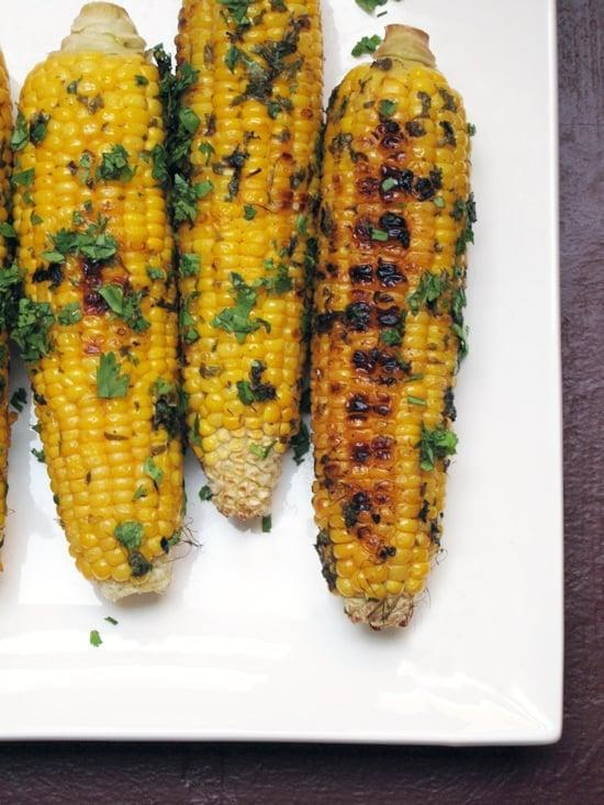 "<p>Give grilled corn an upgrade with a zesty cilantro-lime butter. </p> <p><strong>Get the recipe:</strong> <a href=""https://www.popsugar.com/food/Grilled-Corn-Cilantro-Butter-23512938"" class=""link rapid-noclick-resp"" rel=""nofollow noopener"" target=""_blank"" data-ylk=""slk:grilled corn with cilantro butter"">grilled corn with cilantro butter</a></p>"