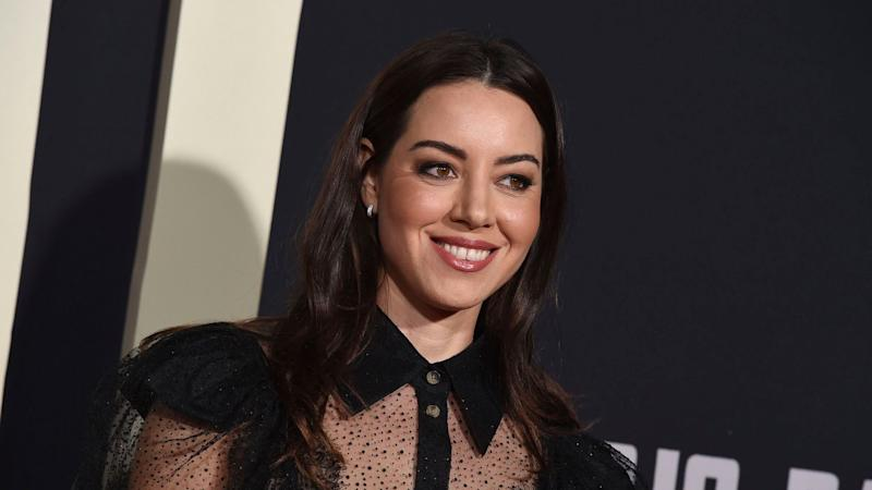 I'm Honestly Living for Aubrey Plaza's Sexy See-Through Shirt Look